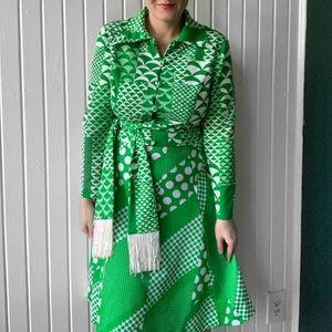 Vintage 1960s Leslie Fay Belted Skirt Blazer Set
